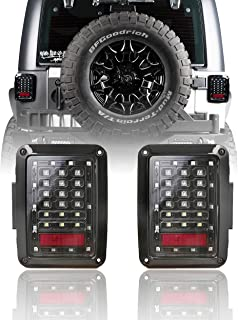 u-Box Jeep JK Tail Light Assembly Clear LED w/Brake Light & Turn Signal for Jeepr JK Wrangle 2007-2018