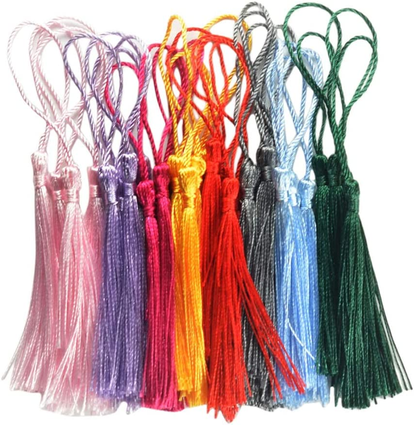 DUO ER 30Pcs Silky Handmade Soft Mini f Craft Tassels with Loops Al sold out. Ranking TOP10
