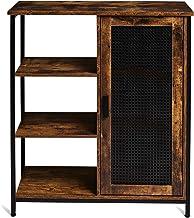 خزانة التخزين الصناعية TianLang ريترو ، بها 3 أرفف مفتوحة وباب واحد ، لوح جانبي لغرفة المعيشة ، غرفة النوم ، المطبخ ، إطار...