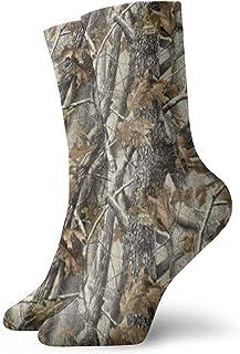 N / A, Realtree Camo Leaf - Calcetines de camuflaje para hombre, mujer, niños, trekking, rendimiento, 30 cm