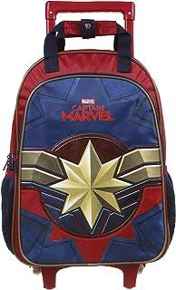 Mala Escolar G com Rodinhas, Capitã Marvel, DMW Bags, 11646, Colorida