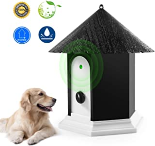 Humutan Anti Barking Device, Ultrasonic Dog Bark Controller, Waterproof Outdoor Anti Bark Control System in Birdhouse Shape