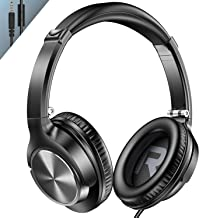 Vogek Over Ear Headphones with Mic, Lightweight Portable Foldable Stereo Bass Wired Headphones...