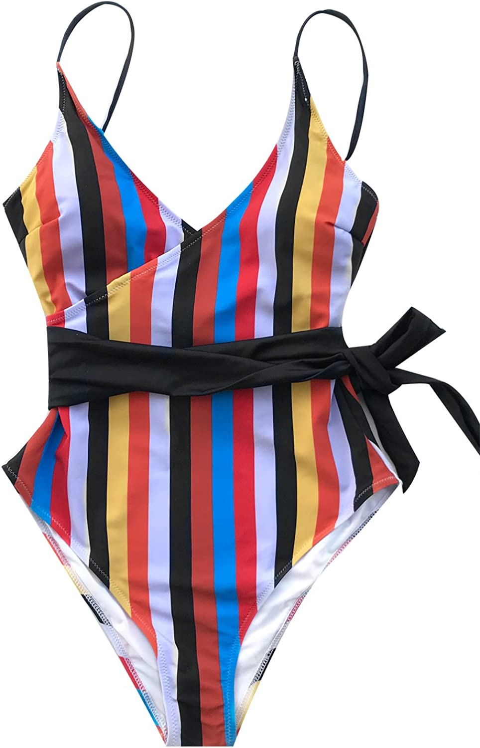 CUPSHE Women's Tropic of Discusssion Front Mail order cheap One Piec Ranking integrated 1st place Stripe Cross
