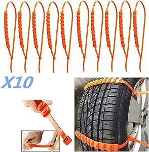 Car Truck Snow Anti-skid Wheel Tire Chains Universal Fit Tyre Width 175 295