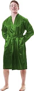mens gold satin robe