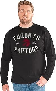 G-III Sports NBA Toronto Raptors Big Man Bank Shot Long Sleeve Top, 5X, Black
