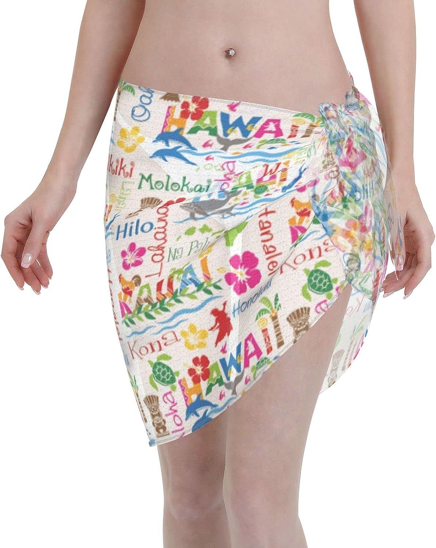 FSERSANHW Hawaiian Adventures Chiffon Beach Women Max 86% OFF Short Sarong El Paso Mall C