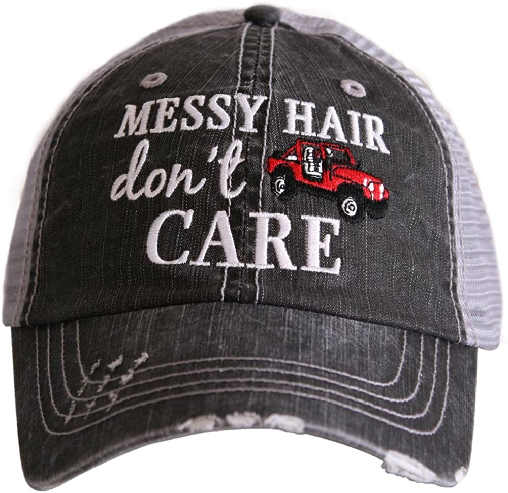 KATYDID Messy Hair Don't Care Baseball Hats Caps
