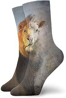 iuitt7rtree, Calcetines de tobillo de león y niebla Casual Divertido para botas deportivas Senderismo Running Etc. calcetines7917