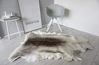 MILABERT Genuine Super Soft - Extra Large Scandinavian Reindeer Skin - Rug | Hide | Pelt - RE 377