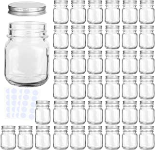 Glass Jars, KAMOTA 4 oz Mini Glass Jars with Lids Perfect for Mason Jars, Canning Jars, Favor Jars, Baby Food Jars, DIY Magnetic Spice Jars, Jam Jars,40 PACK,40 Whiteboard Labels Included
