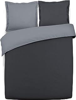 VISION - Housse de couette réversible - 240x220cm - anthracite/gris - 100% coton
