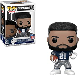 Funko Ezekiel Elliott [Dallas Cowboys]: NFL x POP! Football Vinyl Figure & 1 PET Plastic Graphical Protector Bundle [#068 ...