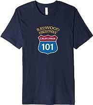 Vintage Redwood Highway Route 101 Redwoods T-Shirt