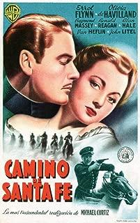 Posterazzi Santa Fe Trail Errol Flynn Olivia De Havilland (Spanish Ad Art) 1940. Movie Masterprint Poster Print (24 x 36)