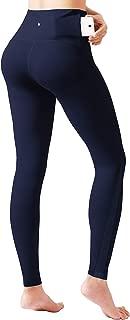 ODODOS Back Pocket High Waist Workout Pants with Mesh,Tummy Control Yoga Gym Running Leggings,Non See-Through Yoga Pants
