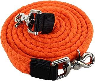 PRORIDER Orange Cotton Roping Barrel Racing Reins 7'X1 Braided Western Horse Tack 60744