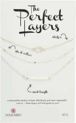 Dogeared - Perfect Layers Set of 3 w/ Moonstone Choker Necklace