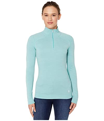 Smartwool NTS Mid 250 Baselayer Zip Top (Nile Blue Heather) Women