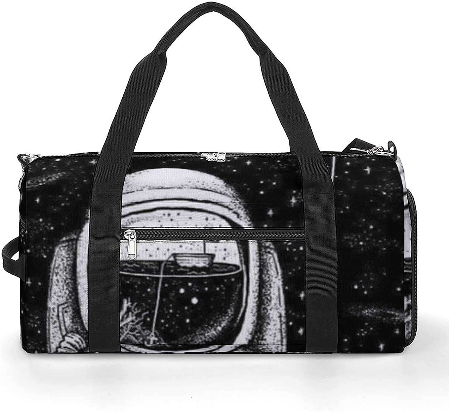 Astronaut Trippy Space Bargain sale Sports Gym Phoenix Mall Shoes Lig Compartment With Bag