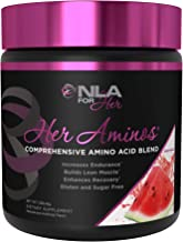 NLA for Her - Her Aminos - Comprehensive Amino Acid Blend - Supports Increased Endurance, Building Lean Muscle, & Enhanced Recovery - Watermelon - 258 Grams