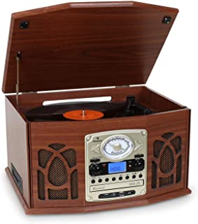 Auna NR-620 Tocadiscos - Reproductor de vinilos y CD -