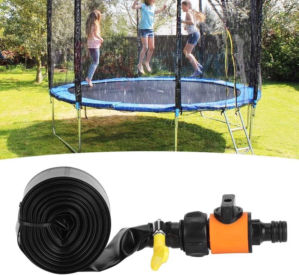 8M juegos Water Water Toys Trampoline Sprinkler Waterpark Backyard Summer Toys Instalaci/ón r/ápida Water Park Trampoline Accessories Sprinkler para juegos de agua Trampoline Water Sprinkler