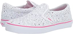 a7924af74644b0 (Glitter Stars) True White Carmine Rose. 208. Vans Kids. Classic Slip-On (Little  Kid Big ...