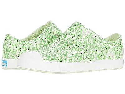 Native Kids Shoes Jefferson Print (Little Kid) (Cucumber Green/Shell White/Green Digi) Kids Shoes