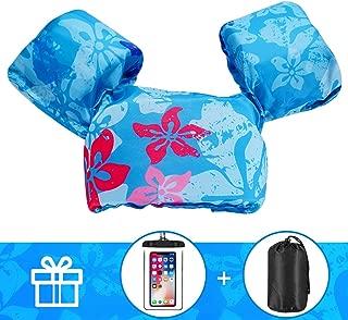 AmazeFan Kids Swim Life Jacket Vest for Swimming Pool, Swim Aid Floats with Waterproof..