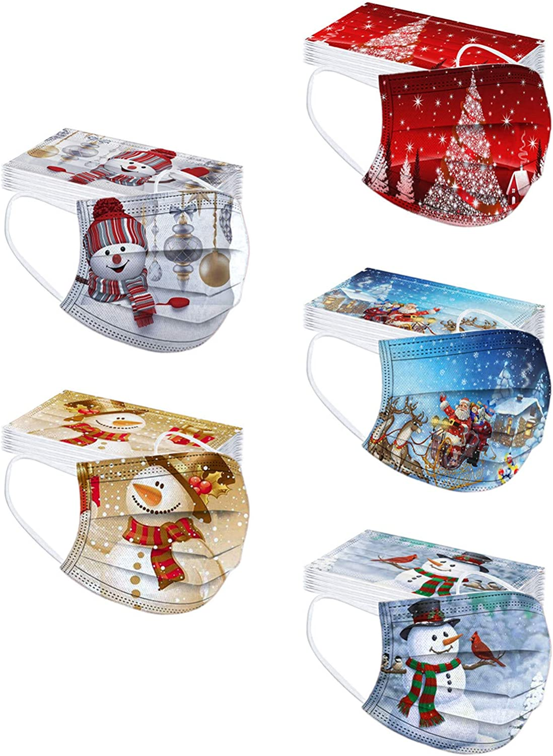 JINF Christmas Import 50PC Adult Print All items free shipping Disposable Face Mask Party