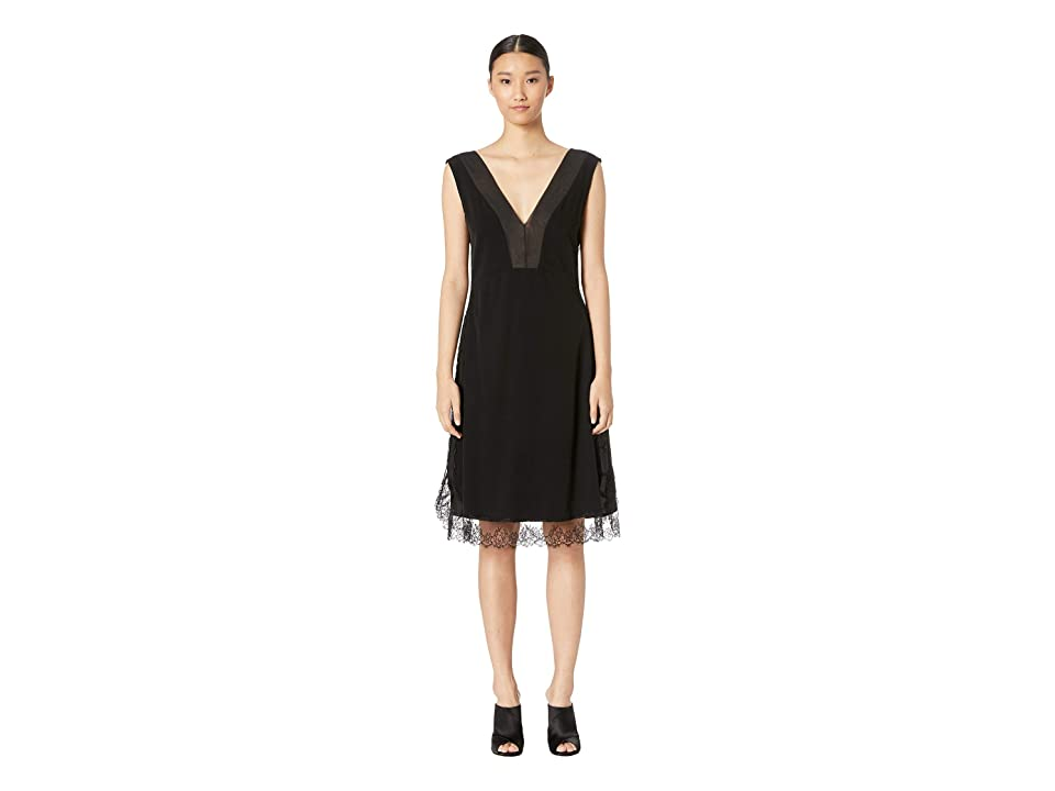 Neil Barrett Lace/Organza Dress (Black) Women