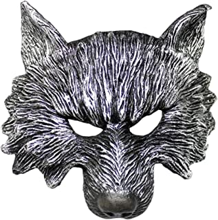 Halloween Mask AO Halloween Wolverine Mask, Party Dress Up Items, Adjustable PU Material (Color : A)