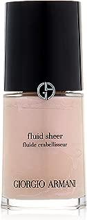 Giorgio Armani Fluid Sheer, No. 7 Pale Shimmering Rose, 1 Ounce