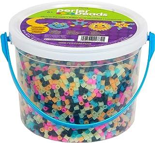 Perler Beads Glow in The Dark Multicolor Fuse Bead Bucket Kit, 5000pcs, (package may vary)