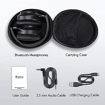 TaoTronics Active Noise Cancelling Headphones [Upgraded] Bluetooth Headphones SoundSurge 60 Over Ear Headphones Wirel...