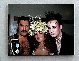 Rare Framed Freddie Mercury Boy George Jane Seymour Vintage Photo. Jumbo Giclée Print