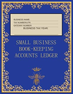 Small Business Book-Keeping Accounts Ledger: Large Book-keeping ledger for the small business and self-employed - Blue and...