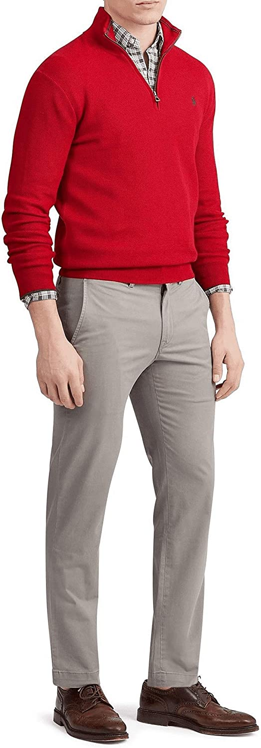 Ralph Lauren Polo Men's Straight Fit Stretch Chino Pants Grey