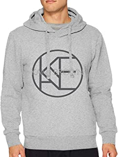 VicRomanko Mens Kane Brown Sweater Young Casual Style Drawstring Music Sweater Black