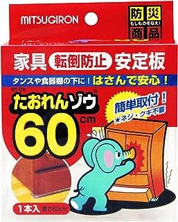 【日本製】ミツギロン 耐震板 たおれんゾウ 60 クリア ST-09
