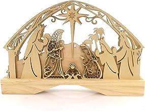 Enesco Flourish Lighted Nativity Centerpiece 7.87 in