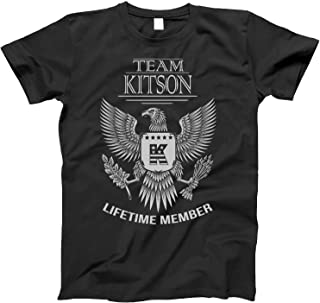 Team Kitson Lifetime Member Family Surname T-Shirt for Families with The Kitson Last Name