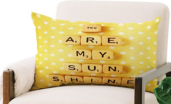 Deny Designs Happee Monkee Oblong Throw Pillow You Are My Sunshine