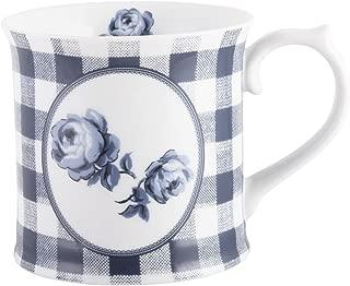 Katie Alice Vintage Indigo Gingham Floral Tankard Mug