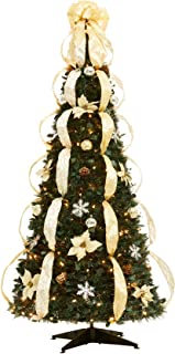 Best red white and silver decorated christmas tree Reviews