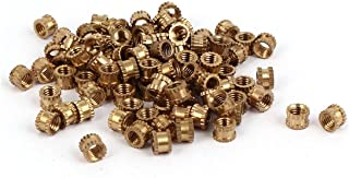 M24 zjchao Stainless Steel Threaded Insert Nuts,Cylinder Knurled Round Molded-in Insert Embedded Nuts 100pcs