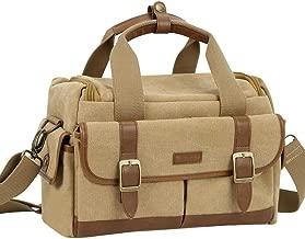 Endurax Canvas Camera Shoulder Bag Vintage DSLR SLR Messenger Bag for Mirrorless Cameras and Tripod