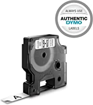 "DYMO Authentic D1 Label l DYMO Labels for LabelManager, COLORPOP and LabelWriter Duo Label Makers, Great for Organization, Indoor and Outdoor Use, ½"" (12mm), Black Print on White Tape, Water Resistant"